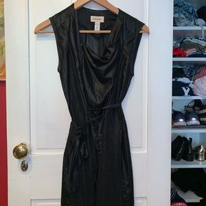 Diesel black asymmetrical zip dress! Like new!